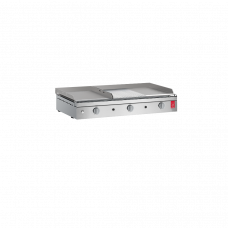 CHEF 80MIX LR Kaasugrilli - Sileä / Uritettu parila